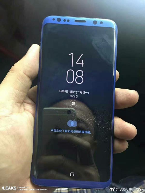 Galaxy S8 blauw