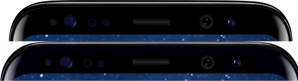 Samsung Galaxy S8 schermranden