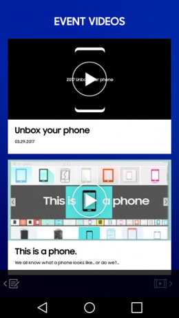 Galaxy Unpacked 2017 app