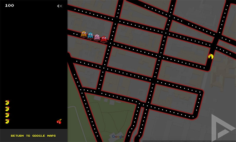 Google Maps Pac-Man web