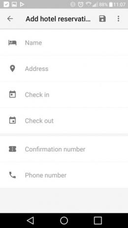 Google Trips 1.0 hotel