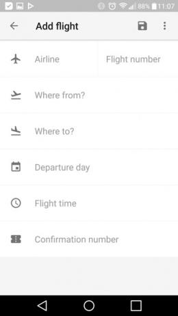 Google Trips 1.0 vlucht