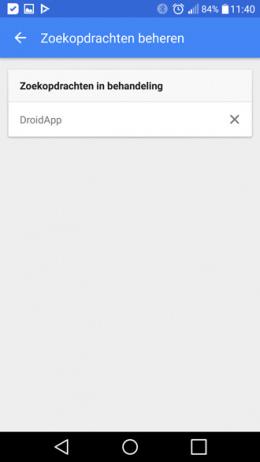 Google App zoekopdrachten beheren