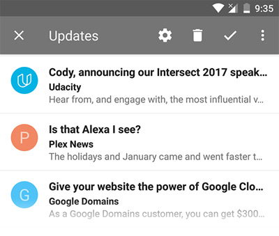 Inbox by Gmail snippet