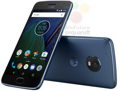 Moto G5 Plus blauw