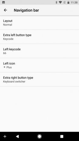 Android O navigatiebalk