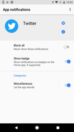 Notificatie badges Android O