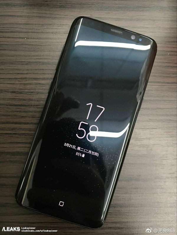 Samsung Galaxy S8 Always On Display