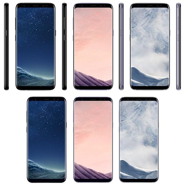 Samsung Galaxy S8 kleuren render