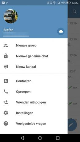 Telegram oproepen