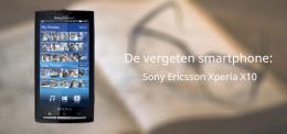Vergeten smartphone Sony Ericsson Xperia X10