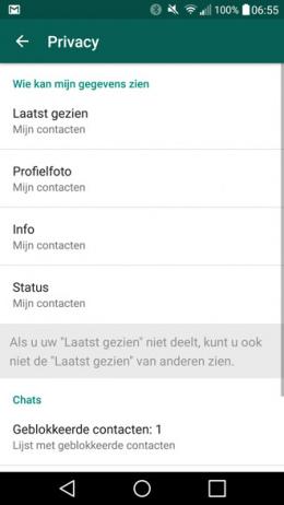 WhatsApp oude status