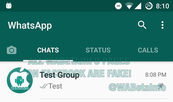 WhatsApp pinnen berichten