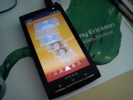 Sony Ericsson Xperia X10 timescape