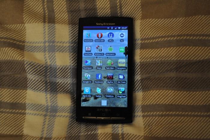 Sony Ericsson Xperia X10 homescreen