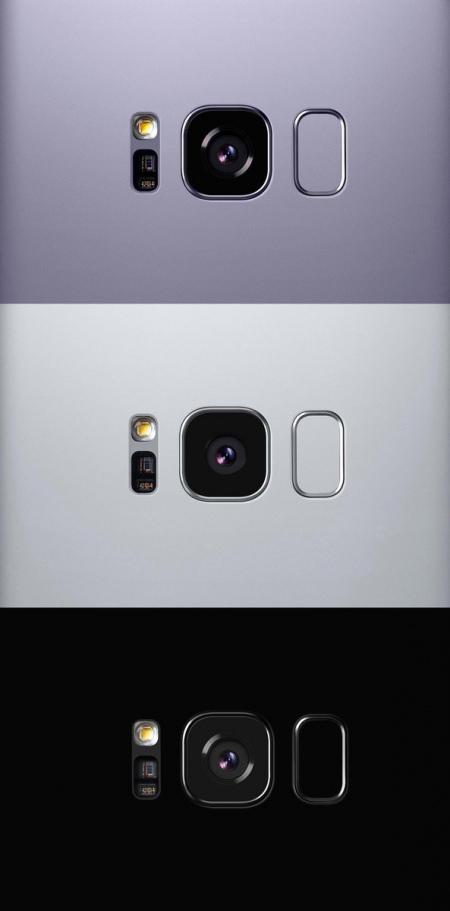 Samsung Galaxy S8 kleuren achterkant