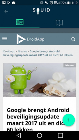 Squid nieuws app