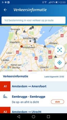 ANWB Onderweg 3.0 app verkeersinformatie
