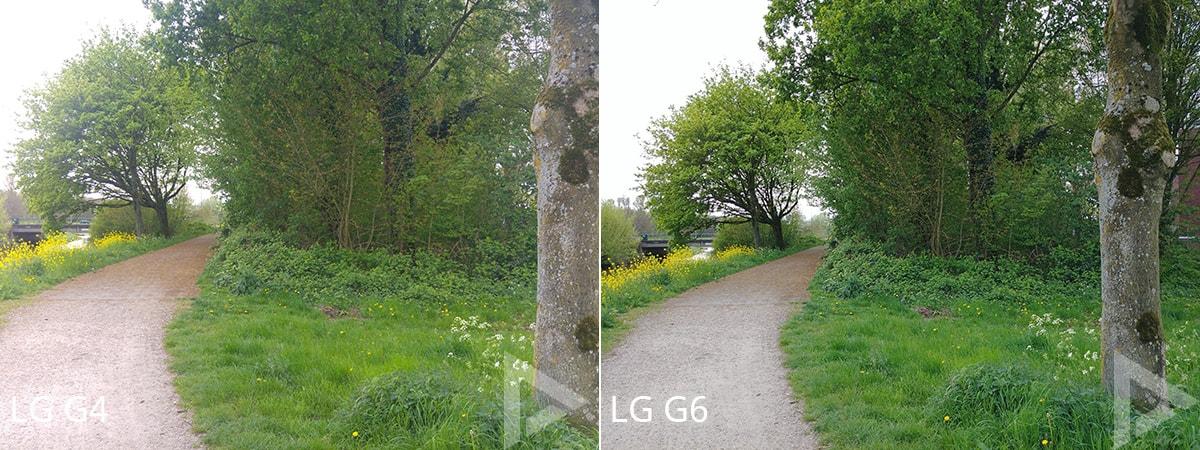 Camera-vergelijking LG G4 G6