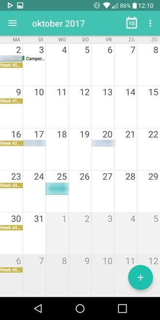 etar een minimalistische open source kalender app voor android. Black Bedroom Furniture Sets. Home Design Ideas