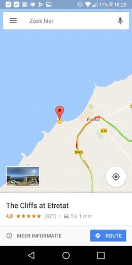 Google Maps werkbalk