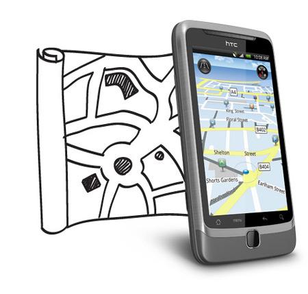 HTC Desire Z Locations