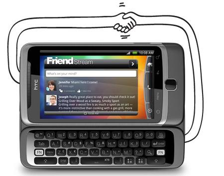 HTC Desire Z Friendstream