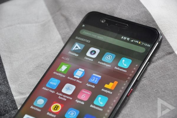 Huawei P10 app drawer
