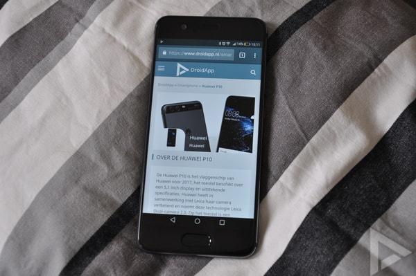 Huawei P10 browser