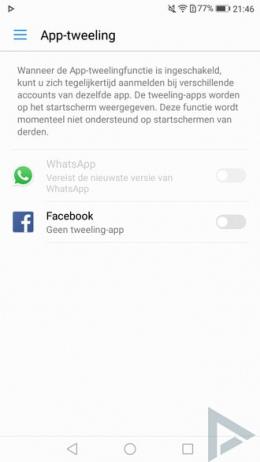 Huawei P10 App Tweeling