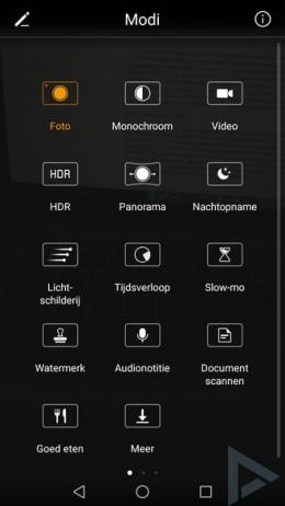 Huawei P10 Camera modi