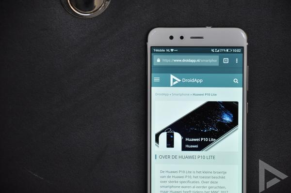 Huawei P10 Lite browser