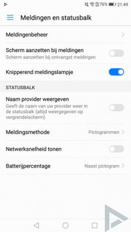 Huawei P10 meldingen