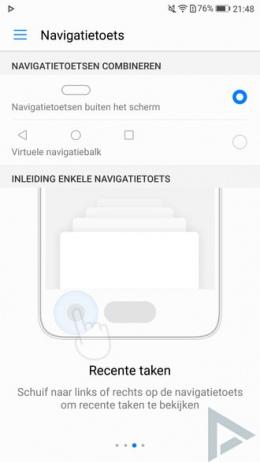 Huawei P10 navigatietoets