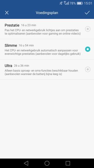 Huawei P9 voedingsplan