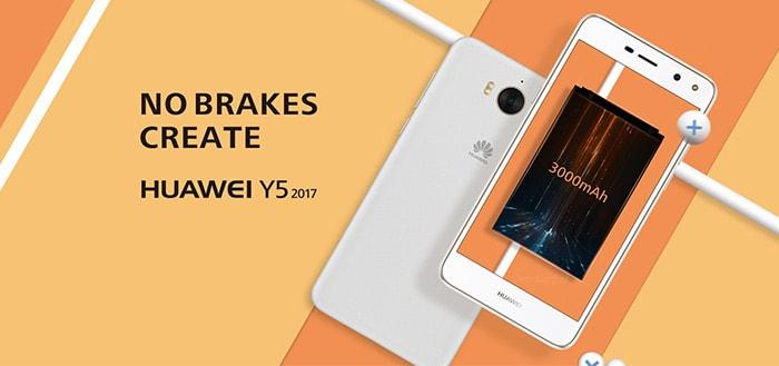 Huawei komt met nieuw instapmodel; de Huawei Y5 (2017)