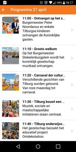 Koningsdag 2017 app