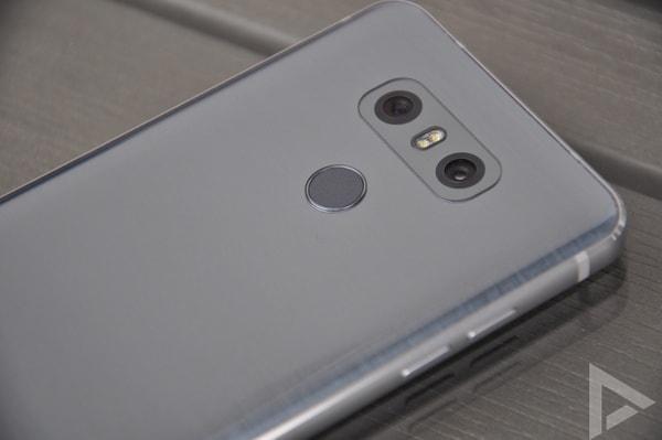 LG G6 vingerafdrukscanner
