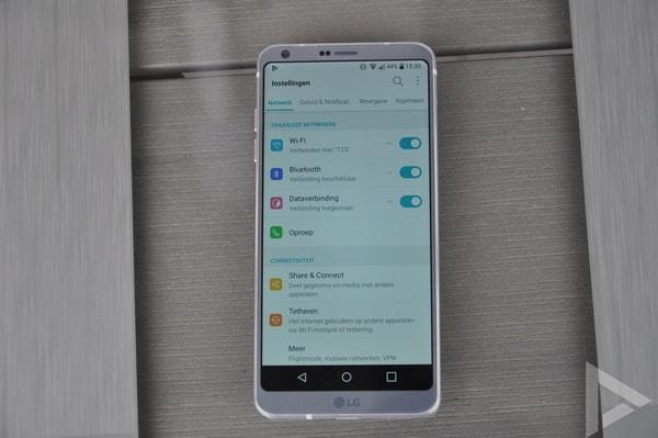 LG G6 instellingen