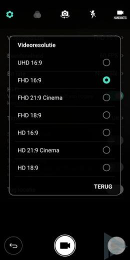 LG G6 videoresolutie