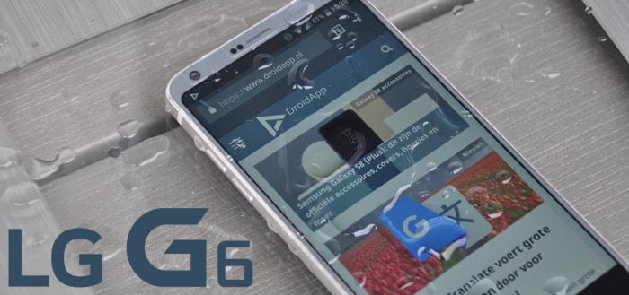 LG G6: Android 9 Pie update nu beschikbaar, met beveiligingsupdate mei(!)