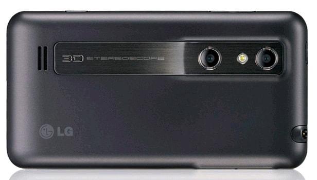 LG Optimus 3D achterkant