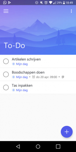 Microsoft To-Do Android