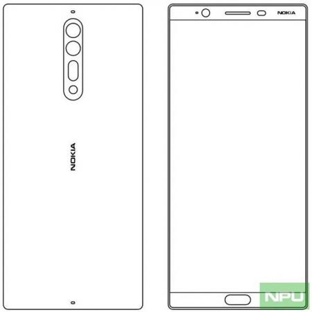 Nokia 8 ontwerpschets