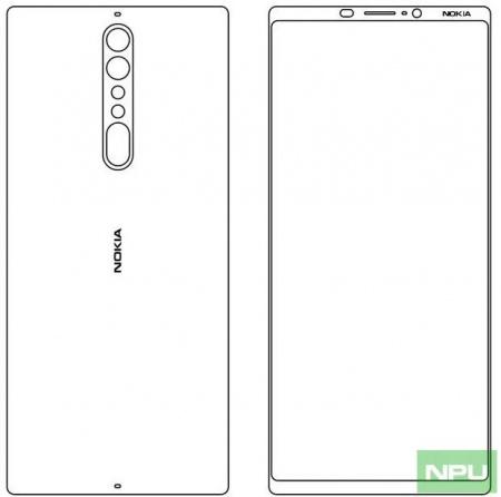 Nokia 9 ontwerpschets