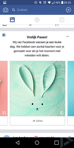 Facebook paaskaarten