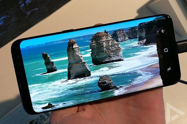 Samsung Galaxy S8 beeldscherm