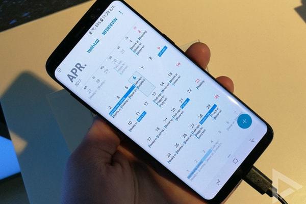 Samsung Galaxy S8 agenda