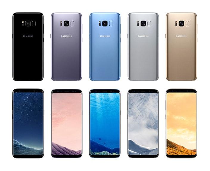 Samsung Galaxy S8 kleuren