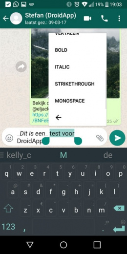 WhatsApp 2.17.149 tekstopmaak